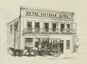 Royal Victoria Hotel from an 1857 sale notice