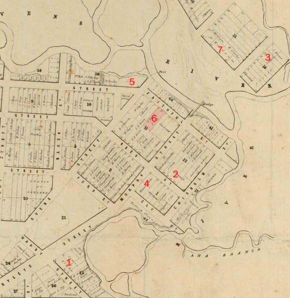 Wangaratta Hotel locations January 1863