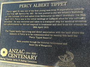 Tippet plaque kindly photographed by Keith Leslie